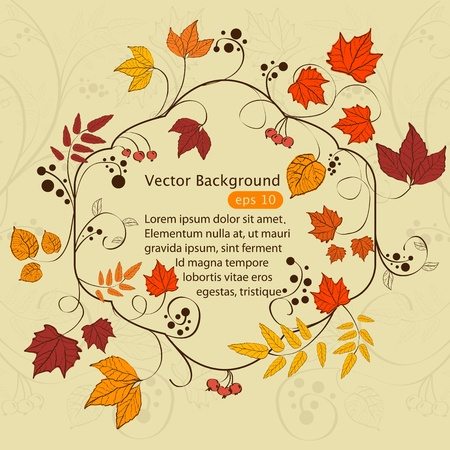 Vector autumn frame design Vector