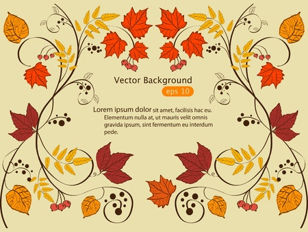 Vector autumn frame design Ilustracja