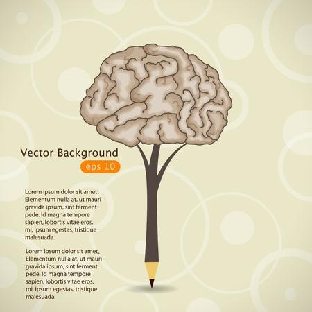 knowledge: Vektor-Illustration mit Bleistift Illustration