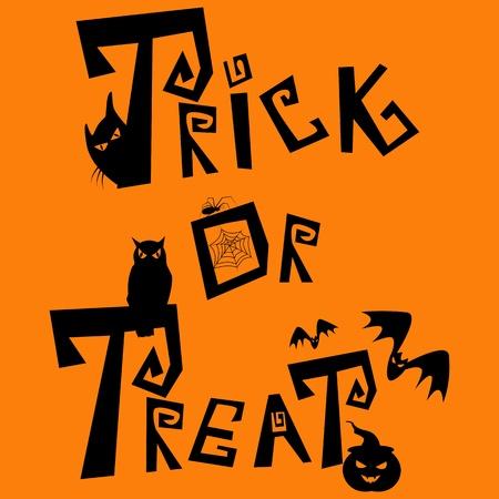 tratar: Imagem Halloween. Doçura ou travessura! Ilustração