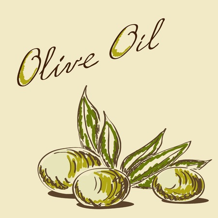 Olive oil label pattern photo