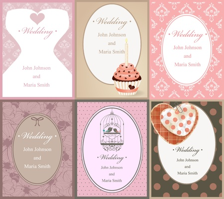 pattern for wedding invitation Stock Photo