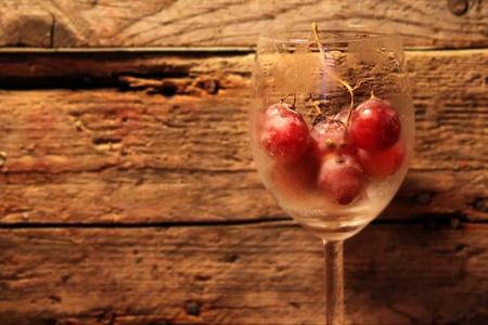 Foto de vidrio con las uvas Foto de archivo - 16161781