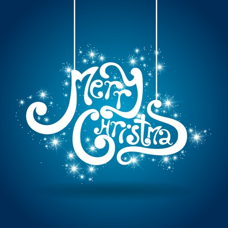 text cool:  merry Christmas greeting card Illustration