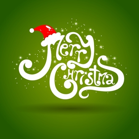 Merry Christmas greeting card photo