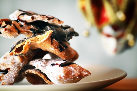 chiacchiere: Photo of italian traditional Carnaval cookies  Chiacchiere  Stock Photo
