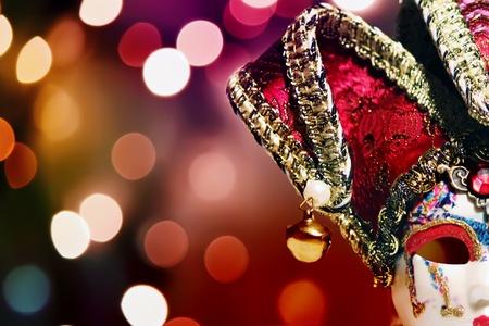 festal: Foto di maschera di carnevale su sfondo luminoso Archivio Fotografico