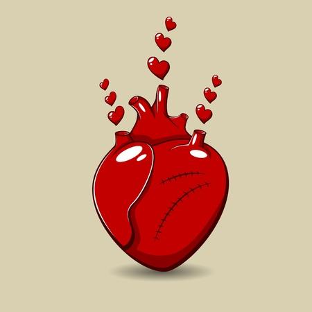 human vein heartbeat: St Valentine Illustration