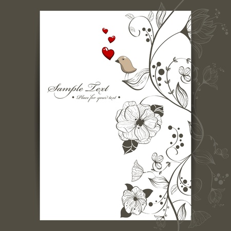 Vector floral background design Vector
