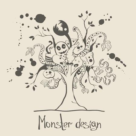 Vector creative monster tree Stock Vector - 19559225