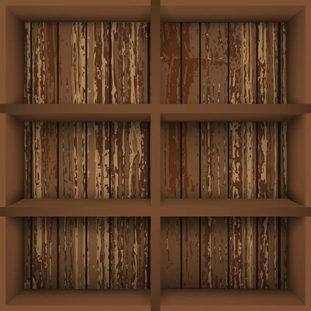 bookcases: illustarion with  empty bokkshelves
