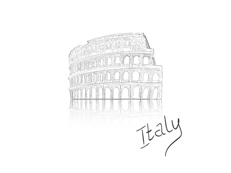 colosseo: Vector illustration  of colosseum in Rome, Italy