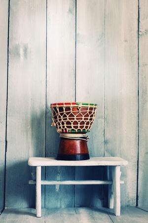 bongo drum: Photo of small brown  tambour