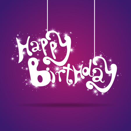 greeting card with Happy Birthday text Vector