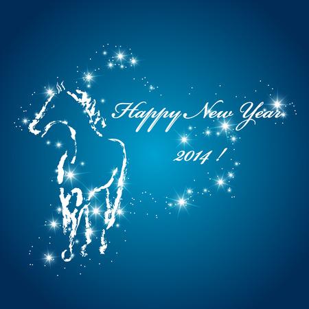 Vector hand drawn New Year greeting card Vector