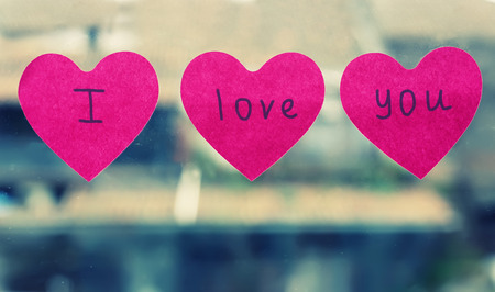 Photo of 3 heart shaped sticker I love you photo