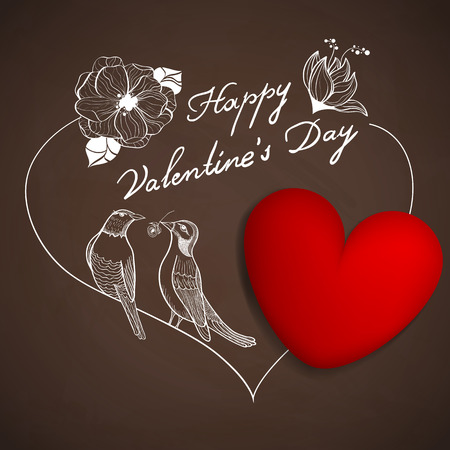 st valentines day: Vector St. Valentines day greeting card Illustration