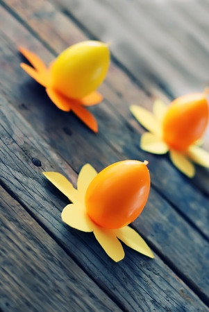 Cute  photo with 3 easter eggs candles photo