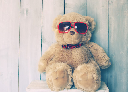 cute teddy bear: Vintage photo of Teddy bear toy
