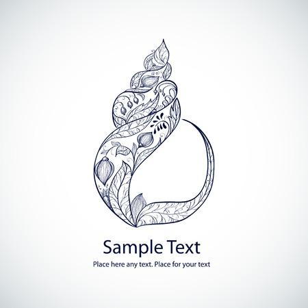 ベクトル花海シェル形状図 写真素材 - 30640832