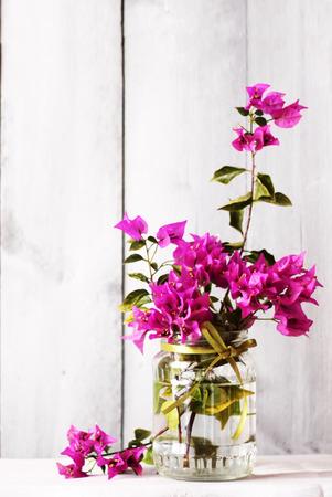 bougainvillea: Photo of purple flower Bougainvillea bouquet in vase