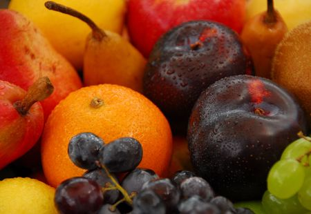 tempting: Tempting selection of fresh,ripe,colourful fruit