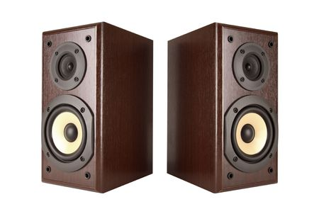 sub woofer: Speakers isolated with clipping path Stock Photo