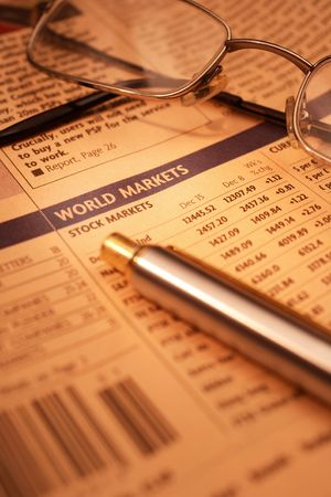 equities: Stock market concept with selective DOF Stock Photo