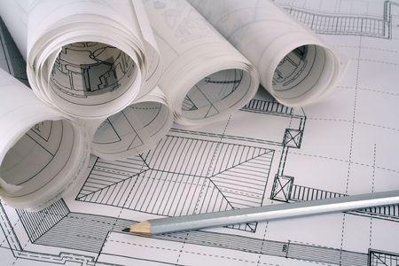 planos arquitecto: Arquitecto serie de planes Foto de archivo