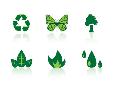 Ecology icon series Vector