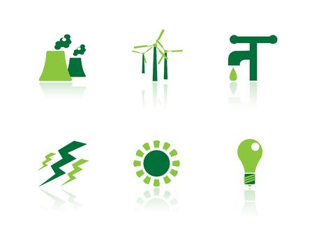 dispose: Ecology icon series Illustration