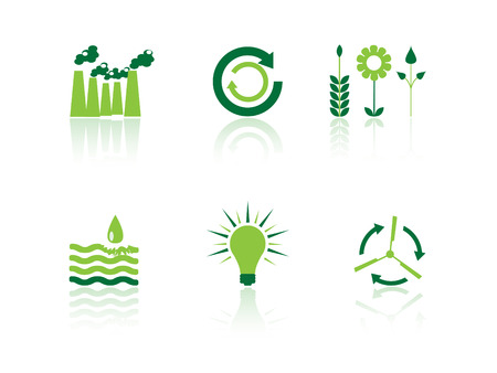 ozone friendly: Ecology icon series Illustration