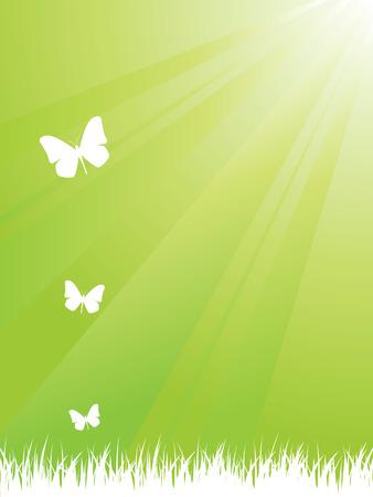 the greenhouse: Ecology background Illustration