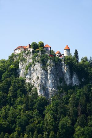 bled: Bled Castle Stock Photo