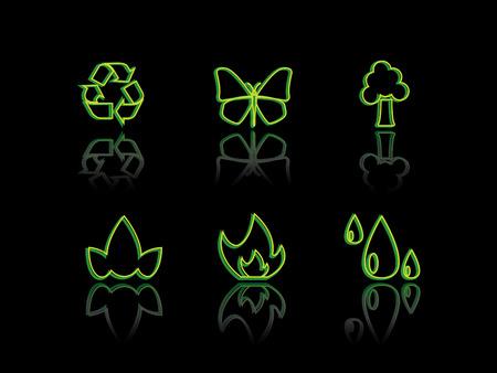 Ecology neon series Vector