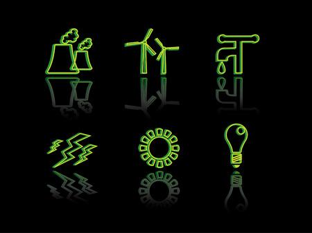 dispose: Ecology neon series Illustration