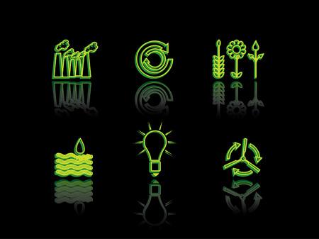 ozone friendly: Ecology neon series Illustration