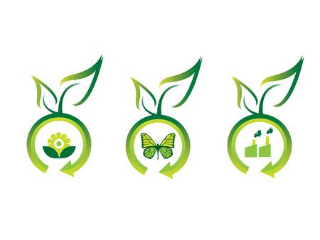 ozone friendly: Ecology icons