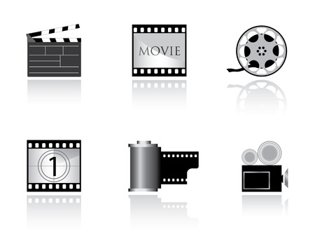 Film icons Vector