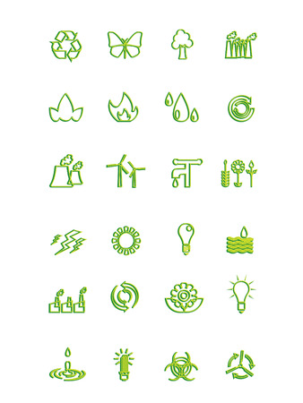 recyclable waste: Ecology icons