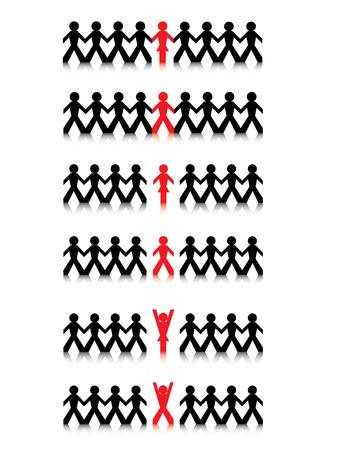 linked hands: Business groups Illustration