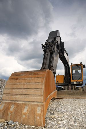 machinery space: Excavator Stock Photo