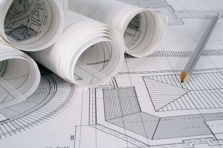 planos arquitecto: Arquitecto planes  Foto de archivo