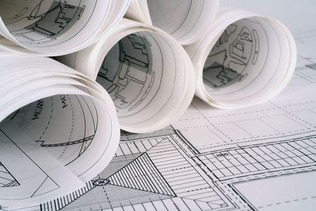 dibujo tecnico: Planes de arquitecto  Foto de archivo