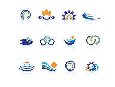 waves ocean: Business logos Illustration