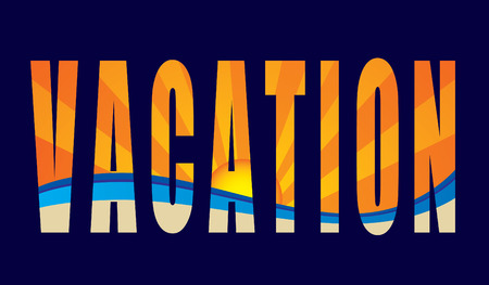 Abstract vacation word series Stock Vector - 3298297