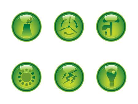 dispose: Ecology icon button series