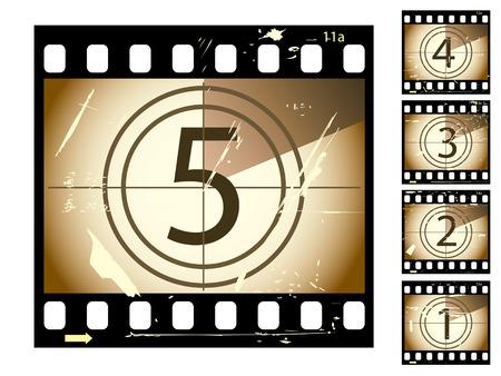 camera film: Grunge film series Illustration