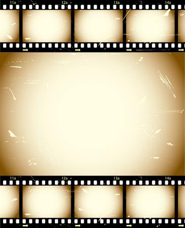 Grunge film series Vector