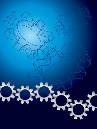 mechanical: Engineer ing achtergrond Stock Illustratie